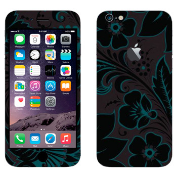 Виниловая наклейка «Хохлома темный цветок» на телефон Apple iPhone 6 Plus/6S Plus