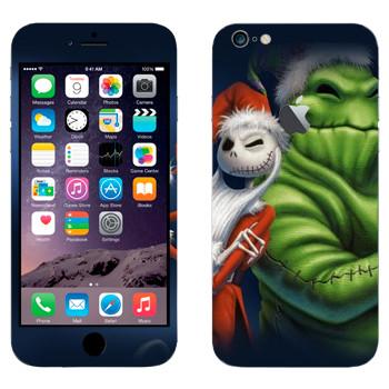 Виниловая наклейка «Джек и Бугимэн - Кошмар перед рождеством» на телефон Apple iPhone 6 Plus/6S Plus