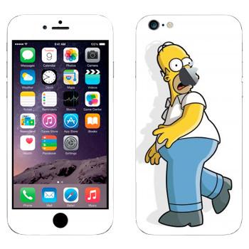 Виниловая наклейка «Гомер Симпсон испуган» на телефон Apple iPhone 6 Plus/6S Plus