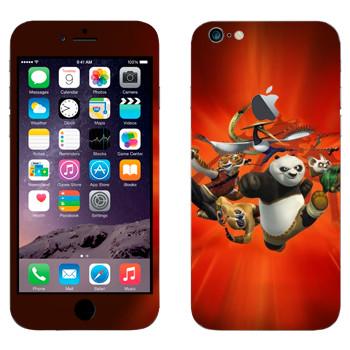 Виниловая наклейка «Неистовая Пятёрка - Кунг-фу Панда» на телефон Apple iPhone 6 Plus/6S Plus