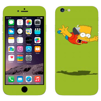 Виниловая наклейка «Падающий Барт Симпсон» на телефон Apple iPhone 6 Plus/6S Plus