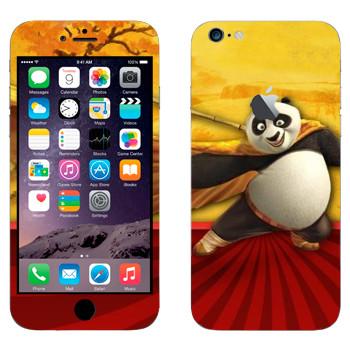 Виниловая наклейка «Панда По - Кунг-фу Панда» на телефон Apple iPhone 6 Plus/6S Plus