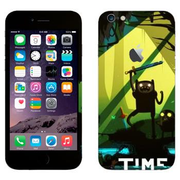 Виниловая наклейка «Время приключений» на телефон Apple iPhone 6 Plus/6S Plus