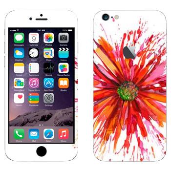 Виниловая наклейка «Астра нарисованная акварелью» на телефон Apple iPhone 6 Plus/6S Plus