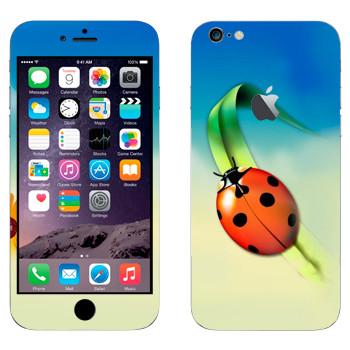 Виниловая наклейка «Божья коровка на травинке» на телефон Apple iPhone 6 Plus/6S Plus