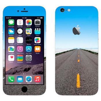 Виниловая наклейка «Дорога убегает к горизонту» на телефон Apple iPhone 6 Plus/6S Plus
