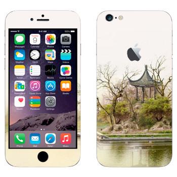 Виниловая наклейка «Китайская беседка у озера» на телефон Apple iPhone 6 Plus/6S Plus