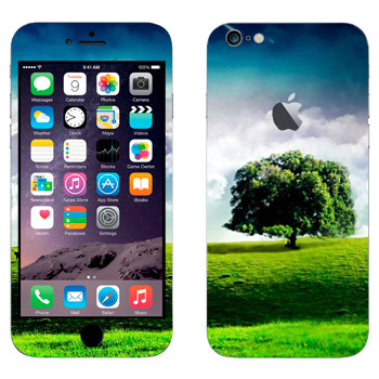 Виниловая наклейка «Одинокое дерево на лугу» на телефон Apple iPhone 6 Plus/6S Plus