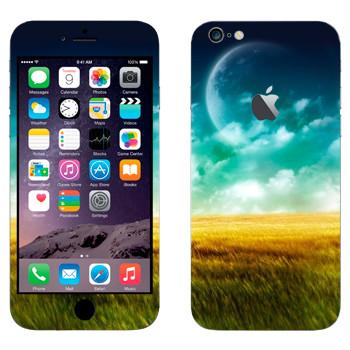 Виниловая наклейка «Поле, небо и Луна» на телефон Apple iPhone 6 Plus/6S Plus