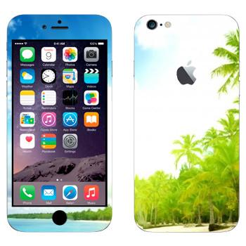 Виниловая наклейка «Тропический пляж» на телефон Apple iPhone 6 Plus/6S Plus