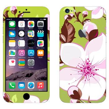 Виниловая наклейка «Цветет вишня» на телефон Apple iPhone 6 Plus/6S Plus