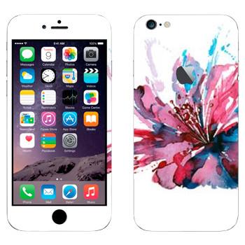 Виниловая наклейка «Цветок нарисованный акварелью» на телефон Apple iPhone 6 Plus/6S Plus