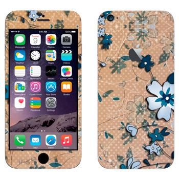 Виниловая наклейка «Васильковый рисунок» на телефон Apple iPhone 6 Plus/6S Plus