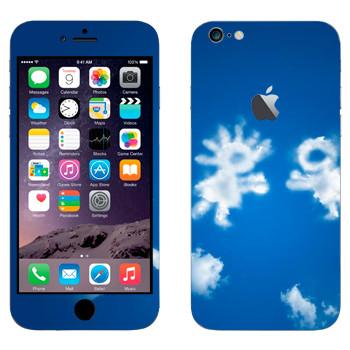 Виниловая наклейка «Влюбленные облачные человечки» на телефон Apple iPhone 6 Plus/6S Plus