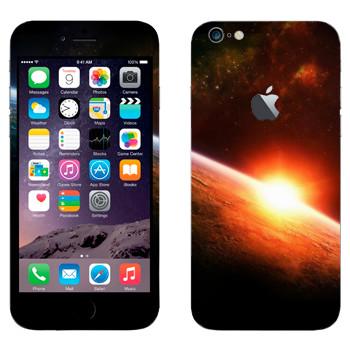 Виниловая наклейка «Восход солнца на орбите Земли» на телефон Apple iPhone 6 Plus/6S Plus