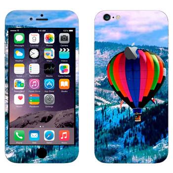 Виниловая наклейка «Воздушный шар над заснеженными холмами» на телефон Apple iPhone 6 Plus/6S Plus