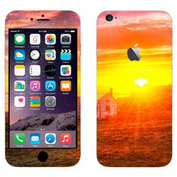 Виниловая наклейка «Закат в деревне» на телефон Apple iPhone 6 Plus/6S Plus