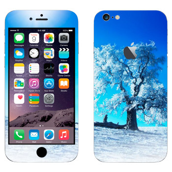 Виниловая наклейка «Зимнее дерево» на телефон Apple iPhone 6 Plus/6S Plus