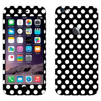 Виниловая наклейка «Белый горошек» на телефон Apple iPhone 6 Plus/6S Plus