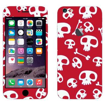 Виниловая наклейка «Черепа на красном» на телефон Apple iPhone 6 Plus/6S Plus