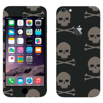 Виниловая наклейка «Черепа с костями» на телефон Apple iPhone 6 Plus/6S Plus