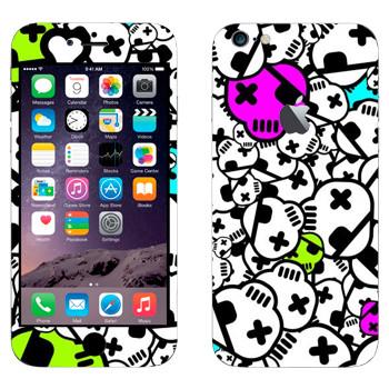 Виниловая наклейка «Черепа с повязкой» на телефон Apple iPhone 6 Plus/6S Plus