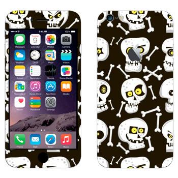 Виниловая наклейка «Черепа в разном настроении» на телефон Apple iPhone 6 Plus/6S Plus