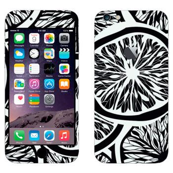 Виниловая наклейка «Черно-белые апельсины» на телефон Apple iPhone 6 Plus/6S Plus