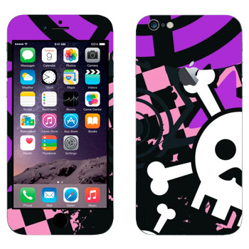 Виниловая наклейка «Эмо-череп орнамент» на телефон Apple iPhone 6 Plus/6S Plus