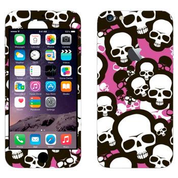 Виниловая наклейка «Эмо-черепа» на телефон Apple iPhone 6 Plus/6S Plus