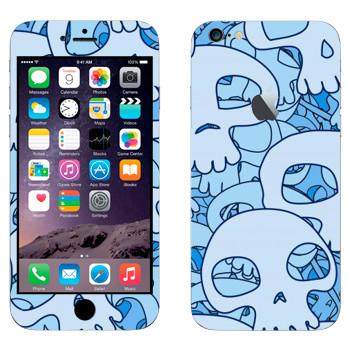 Виниловая наклейка «Голубые черепа» на телефон Apple iPhone 6 Plus/6S Plus