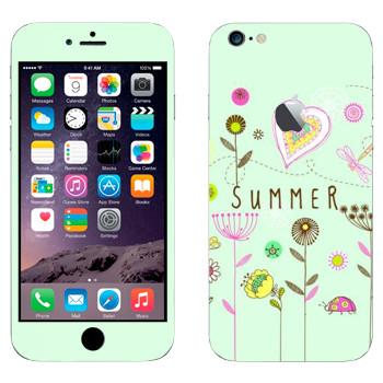 Виниловая наклейка «Летний орнамент» на телефон Apple iPhone 6 Plus/6S Plus