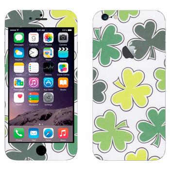 Виниловая наклейка «Листы клевера» на телефон Apple iPhone 6 Plus/6S Plus