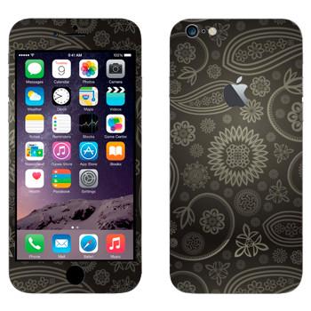 Виниловая наклейка «Пейсли серый» на телефон Apple iPhone 6 Plus/6S Plus