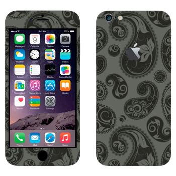 Виниловая наклейка «Пейсли узор серо-черный» на телефон Apple iPhone 6 Plus/6S Plus