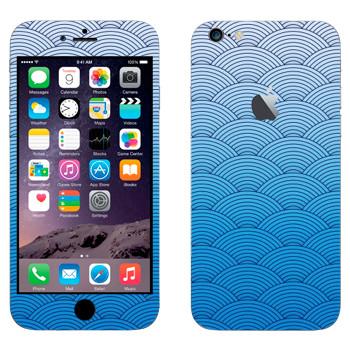 Виниловая наклейка «Синие волны в японских традициях» на телефон Apple iPhone 6 Plus/6S Plus