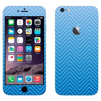 Виниловая наклейка «Синие зигзаги» на телефон Apple iPhone 6 Plus/6S Plus