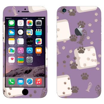 Виниловая наклейка «Следы от кошачьих лап» на телефон Apple iPhone 6 Plus/6S Plus