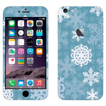 Виниловая наклейка «Снежинки» на телефон Apple iPhone 6 Plus/6S Plus