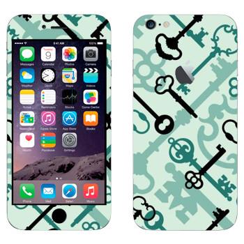 Виниловая наклейка «Старые ключи» на телефон Apple iPhone 6 Plus/6S Plus