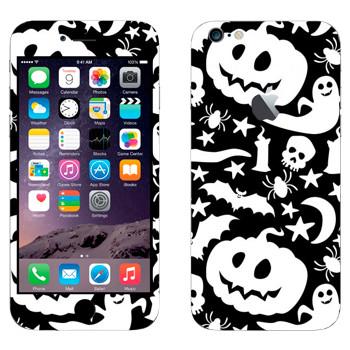 Виниловая наклейка «Тыквы, привидения, черепа» на телефон Apple iPhone 6 Plus/6S Plus