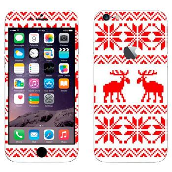 Виниловая наклейка «Вязанные два оленя свитер» на телефон Apple iPhone 6 Plus/6S Plus
