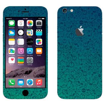 Виниловая наклейка «Значки на синем» на телефон Apple iPhone 6 Plus/6S Plus
