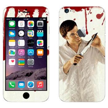 Виниловая наклейка «Dexter» на телефон Apple iPhone 6 Plus/6S Plus