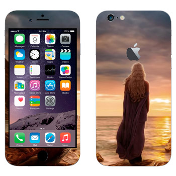 Виниловая наклейка «Дайнерис и закат - Игра престолов» на телефон Apple iPhone 6 Plus/6S Plus