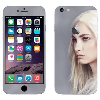 Виниловая наклейка «Девушка - Игра престолов» на телефон Apple iPhone 6 Plus/6S Plus