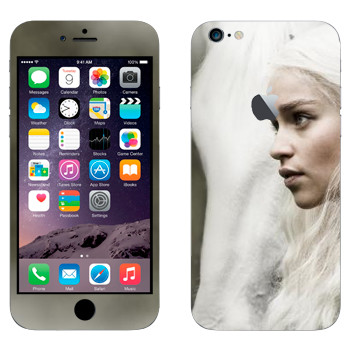 Виниловая наклейка «Дейнерис Таргариен - Игра престолов» на телефон Apple iPhone 6 Plus/6S Plus