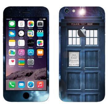Виниловая наклейка «Доктор Кто - Тардис» на телефон Apple iPhone 6 Plus/6S Plus