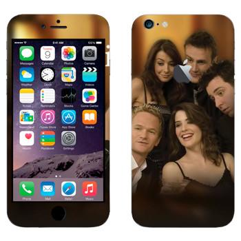 Виниловая наклейка «Персонажи How I Met Your Mother» на телефон Apple iPhone 6 Plus/6S Plus