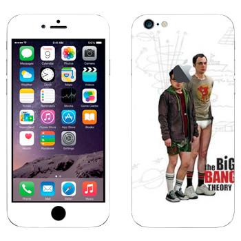 Виниловая наклейка «Шелдон и Леонард - Теория большого взрыва» на телефон Apple iPhone 6 Plus/6S Plus